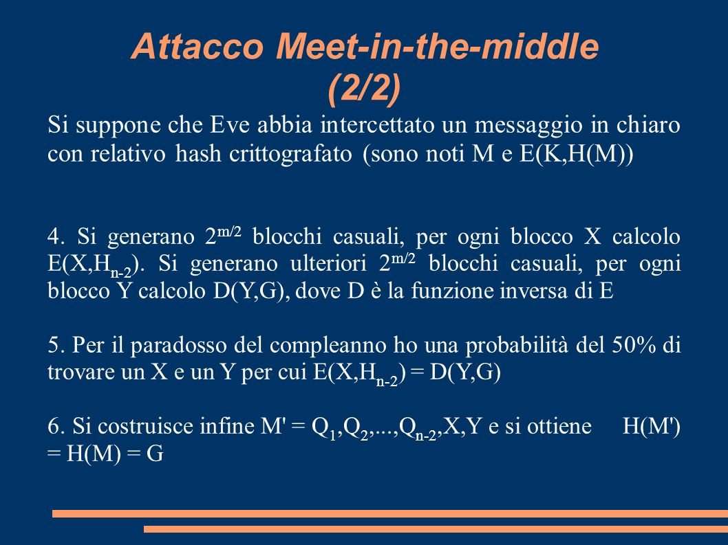 Attacco Meet-in-the-middle (2/2)