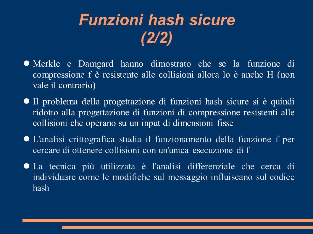 Funzioni hash sicure (2/2)