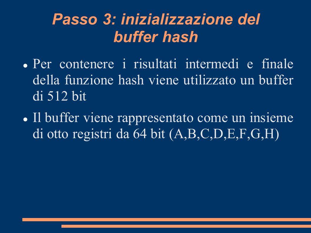 Passo 3: inizializzazione del buffer hash