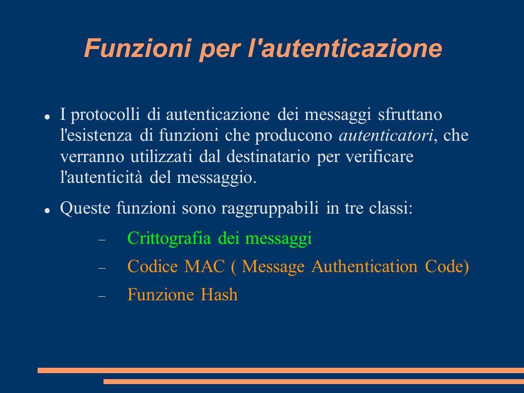 Funzioni per l autenticazione