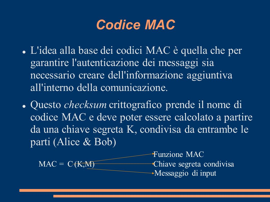 Codice MAC