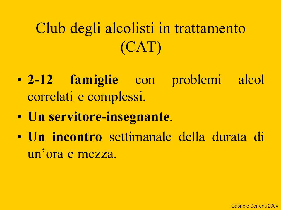 Club degli alcolisti in trattamento (CAT)