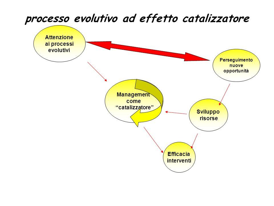 processo evolutivo ad effetto catalizzatore
