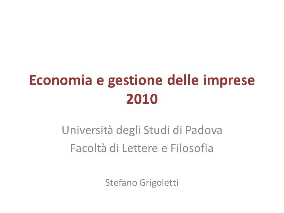 Economia e gestione delle imprese 2010