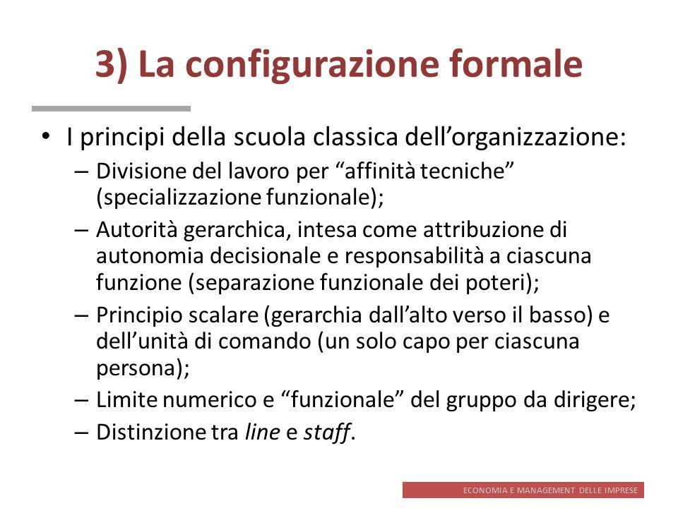 3) La configurazione formale