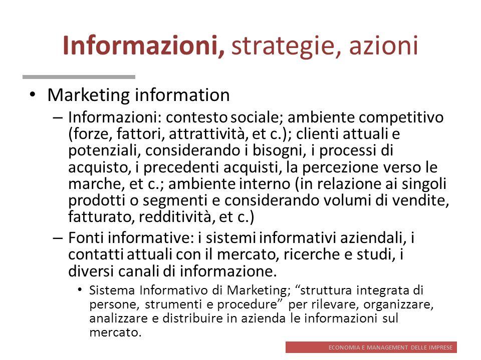 Informazioni, strategie, azioni