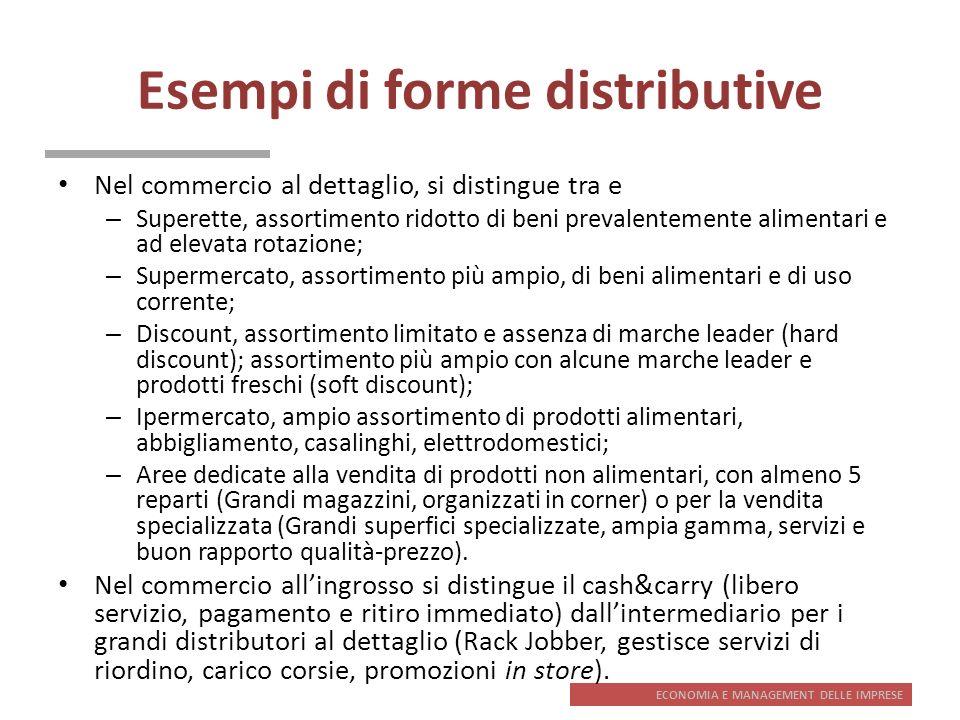 Esempi di forme distributive
