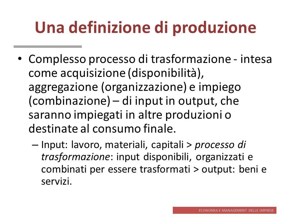 Una definizione di produzione