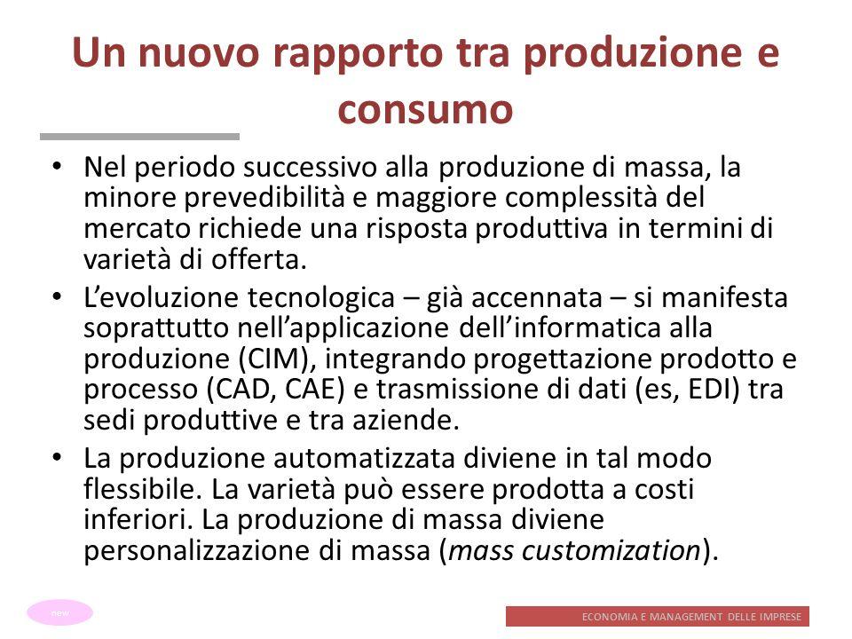 Un nuovo rapporto tra produzione e consumo