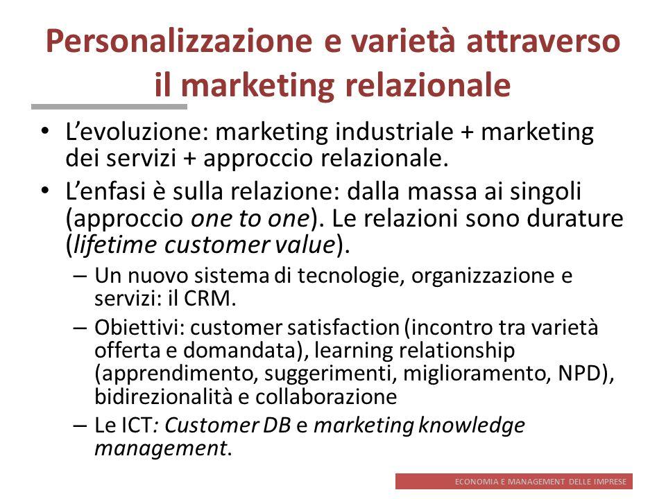 Personalizzazione e varietà attraverso il marketing relazionale