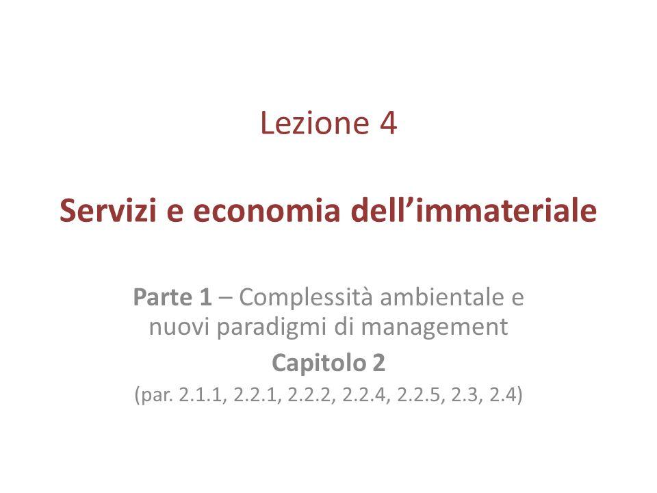 Lezione 4 Servizi e economia dell'immateriale