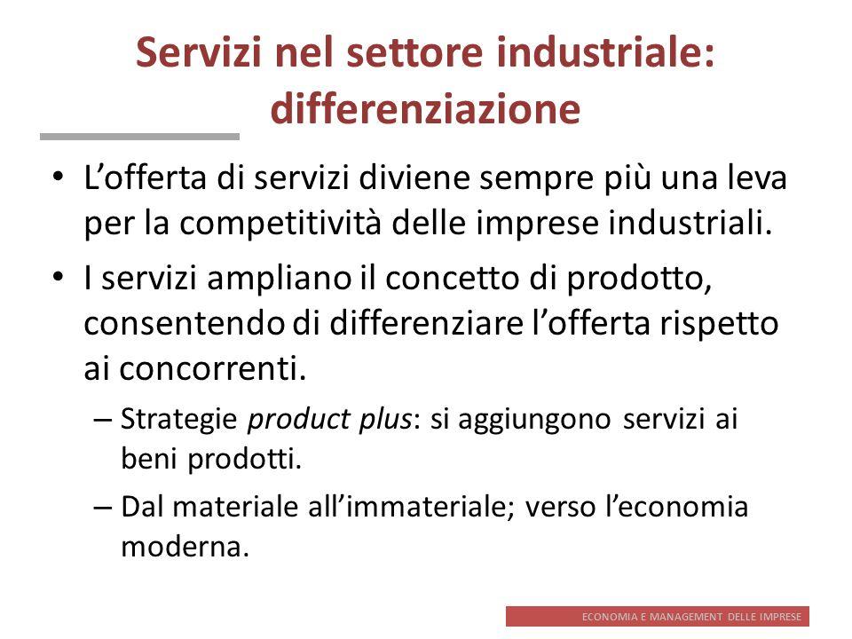 Servizi nel settore industriale: differenziazione