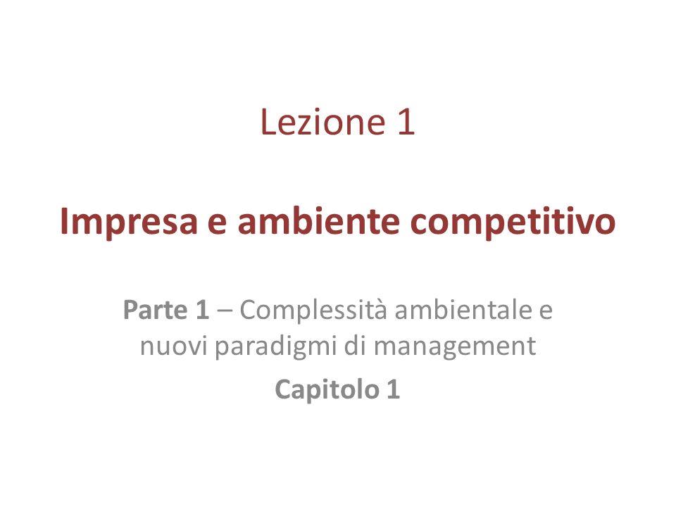 Lezione 1 Impresa e ambiente competitivo