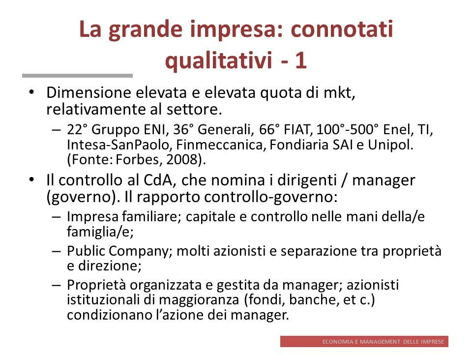 La grande impresa: connotati qualitativi - 1
