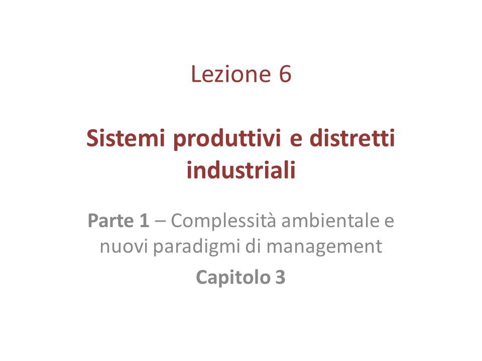 Lezione 6 Sistemi produttivi e distretti industriali