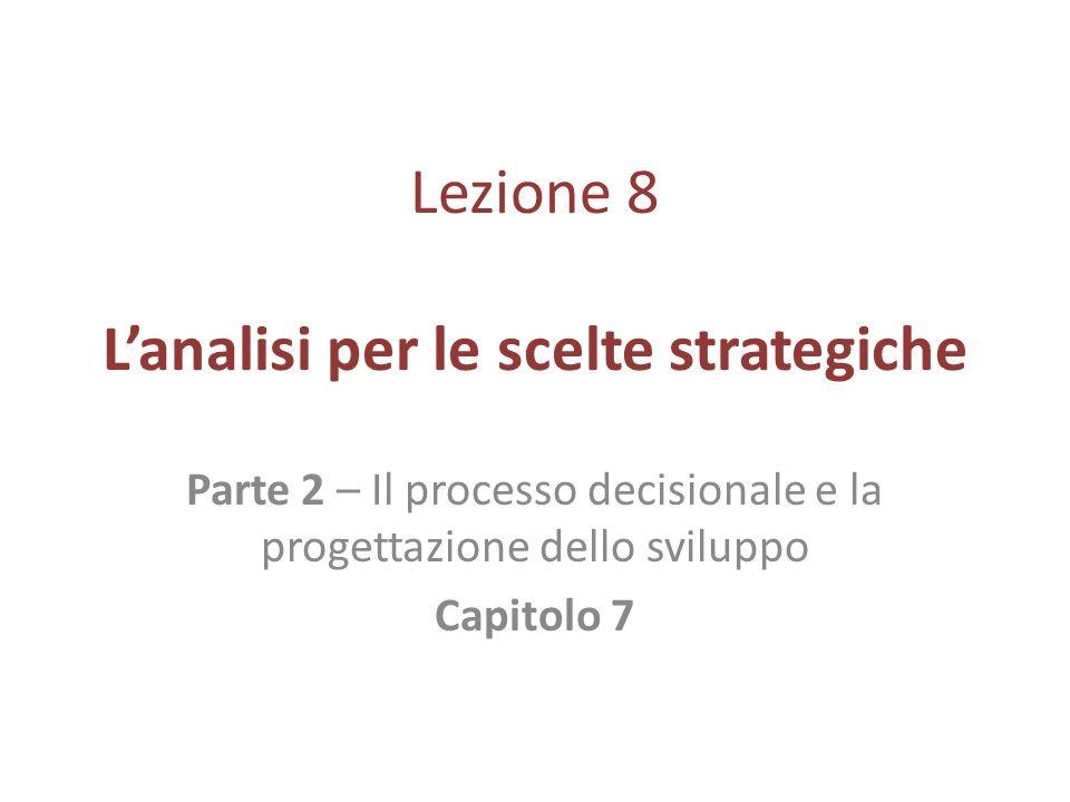 Lezione 8 L'analisi per le scelte strategiche