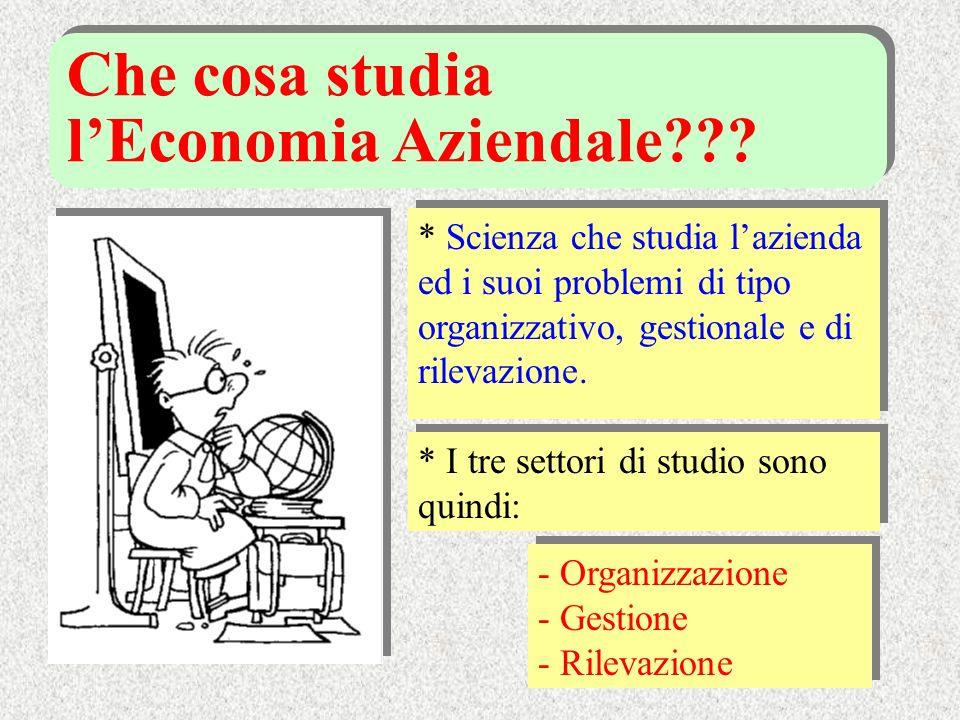 Che cosa studia l'Economia Aziendale