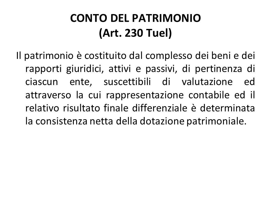 CONTO DEL PATRIMONIO (Art. 230 Tuel)