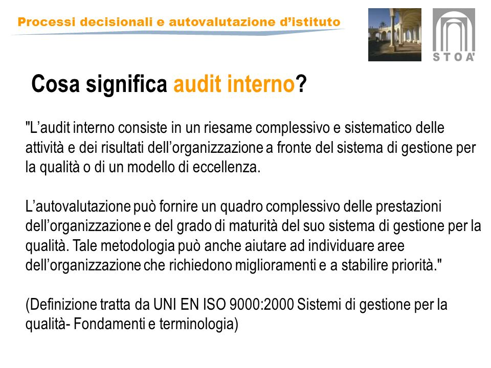 Cosa significa audit interno