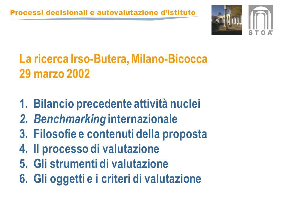 La ricerca Irso-Butera, Milano-Bicocca