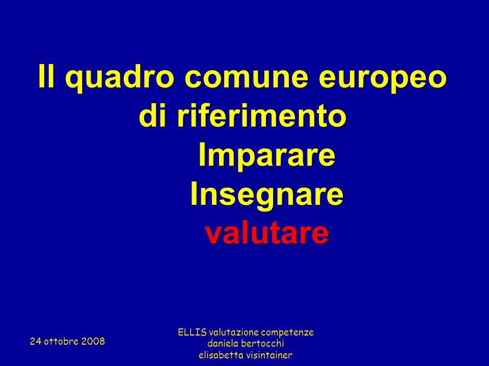 Il quadro comune europeo di riferimento
