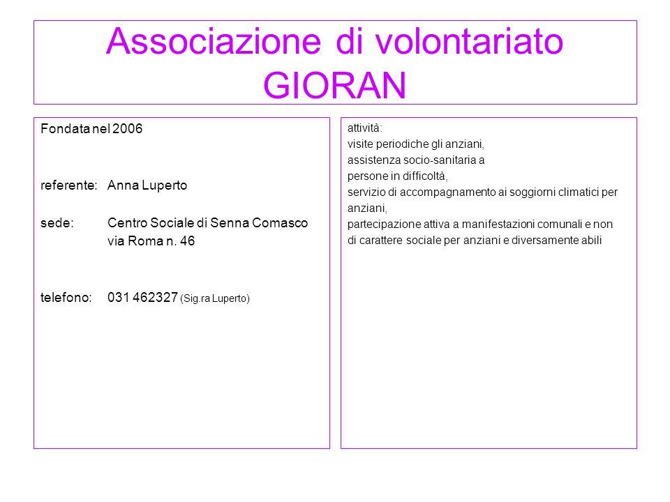 Associazione di volontariato GIORAN