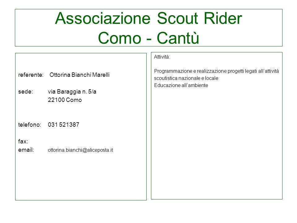 Associazione Scout Rider Como - Cantù