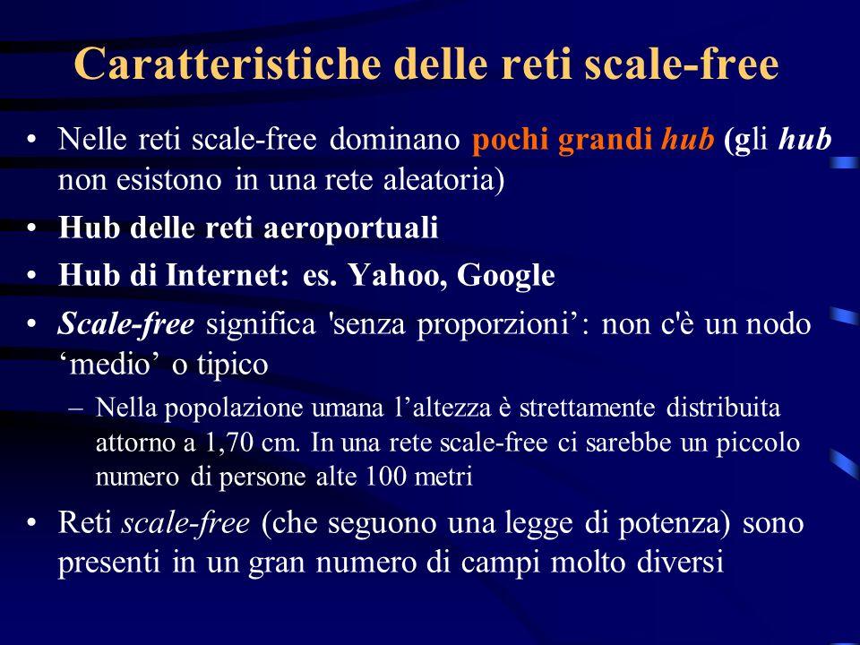 Caratteristiche delle reti scale-free
