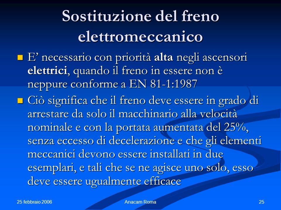 Sostituzione del freno elettromeccanico