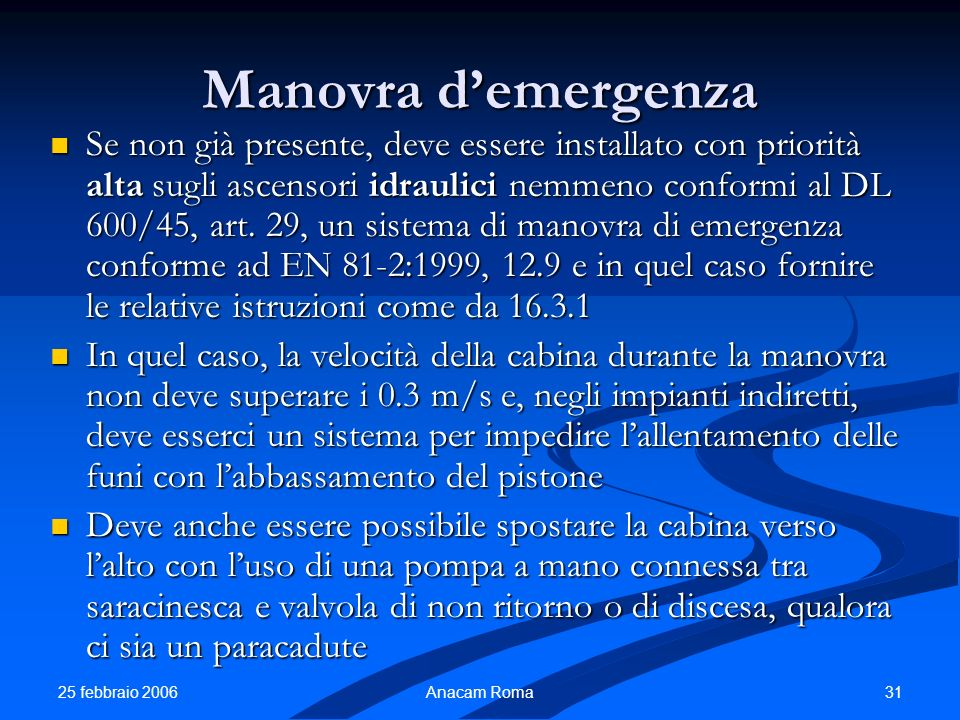 Manovra d'emergenza