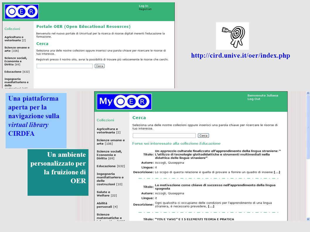 Una piattaforma aperta per la navigazione sulla virtual library CIRDFA