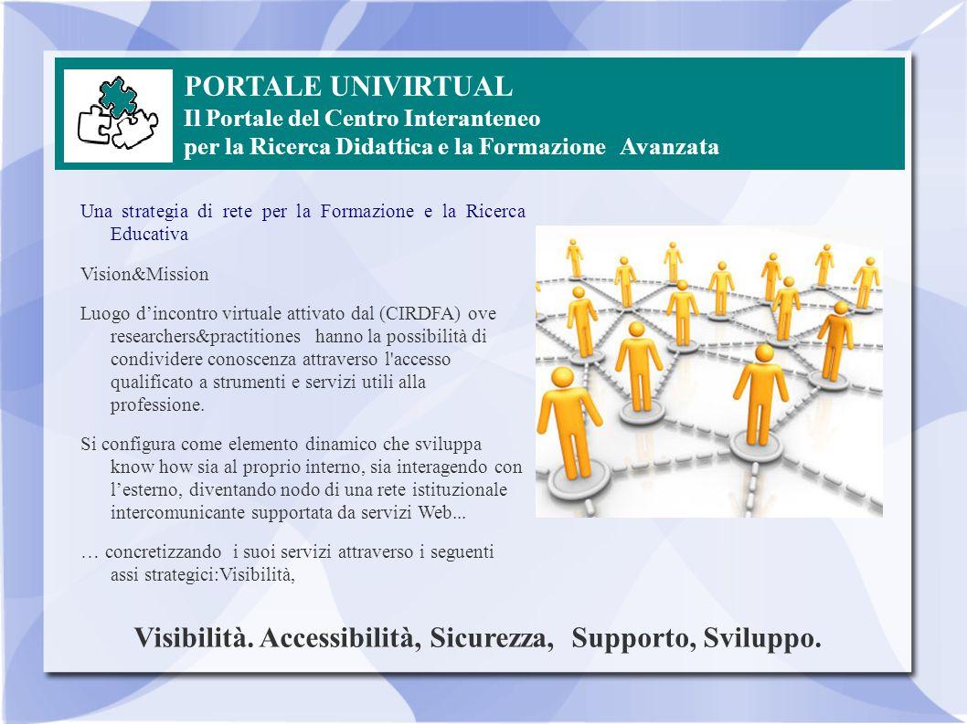 Visibilità. Accessibilità, Sicurezza, Supporto, Sviluppo.