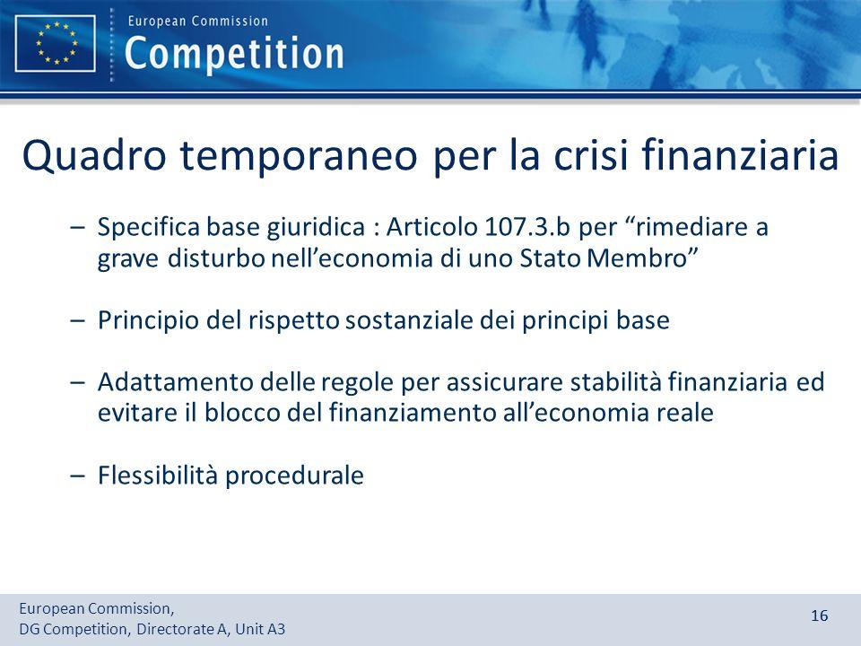 Quadro temporaneo per la crisi finanziaria