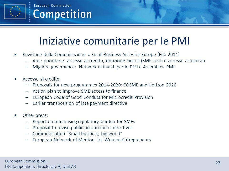 Iniziative comunitarie per le PMI