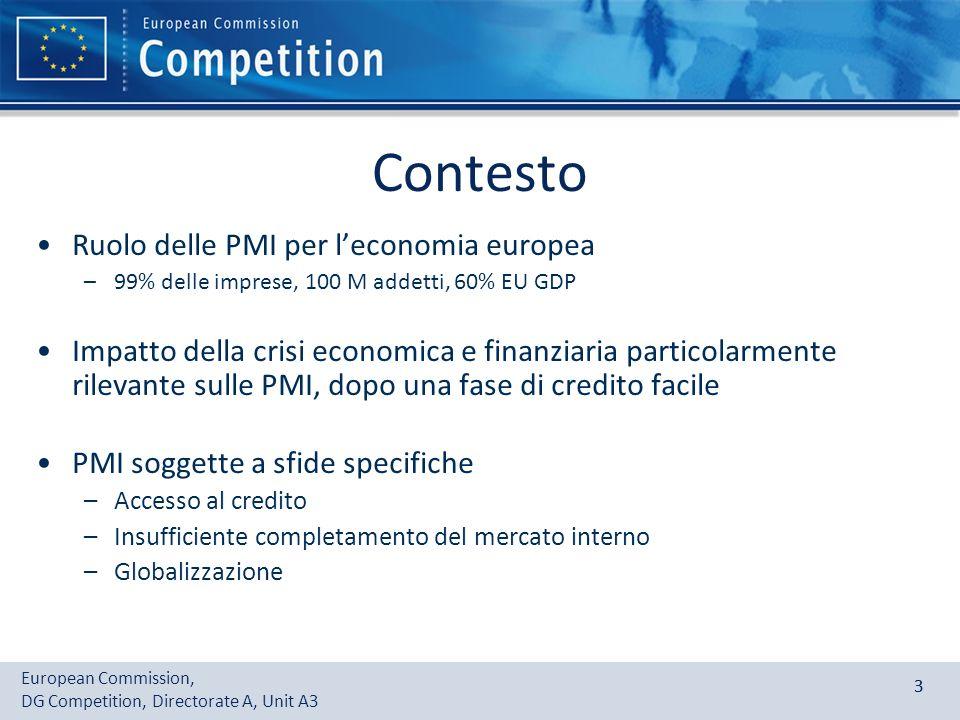 Contesto Ruolo delle PMI per l'economia europea