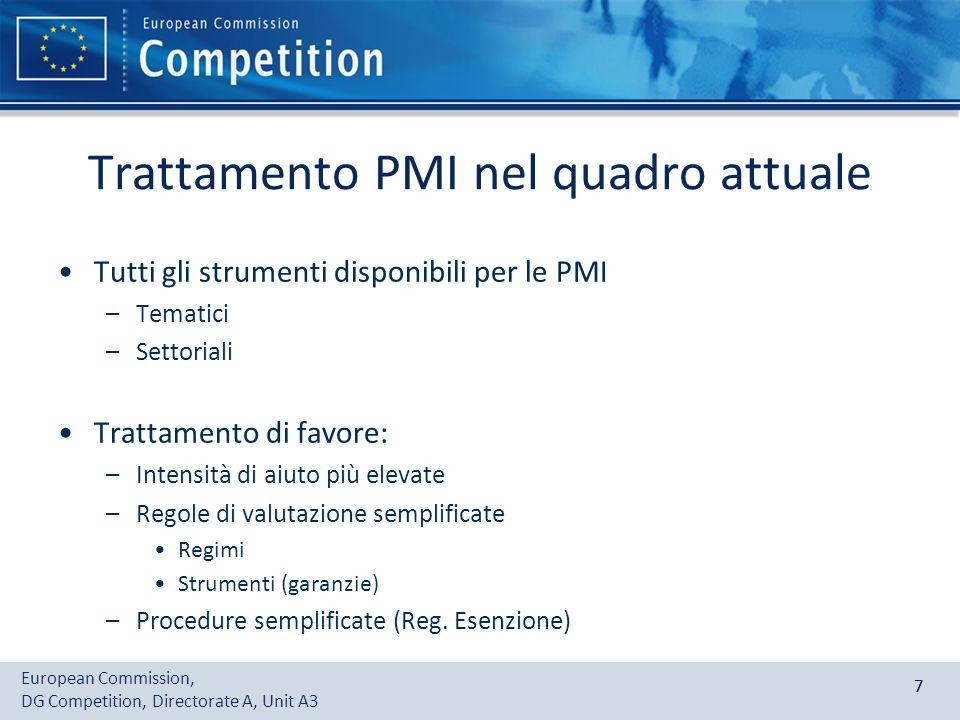 Trattamento PMI nel quadro attuale