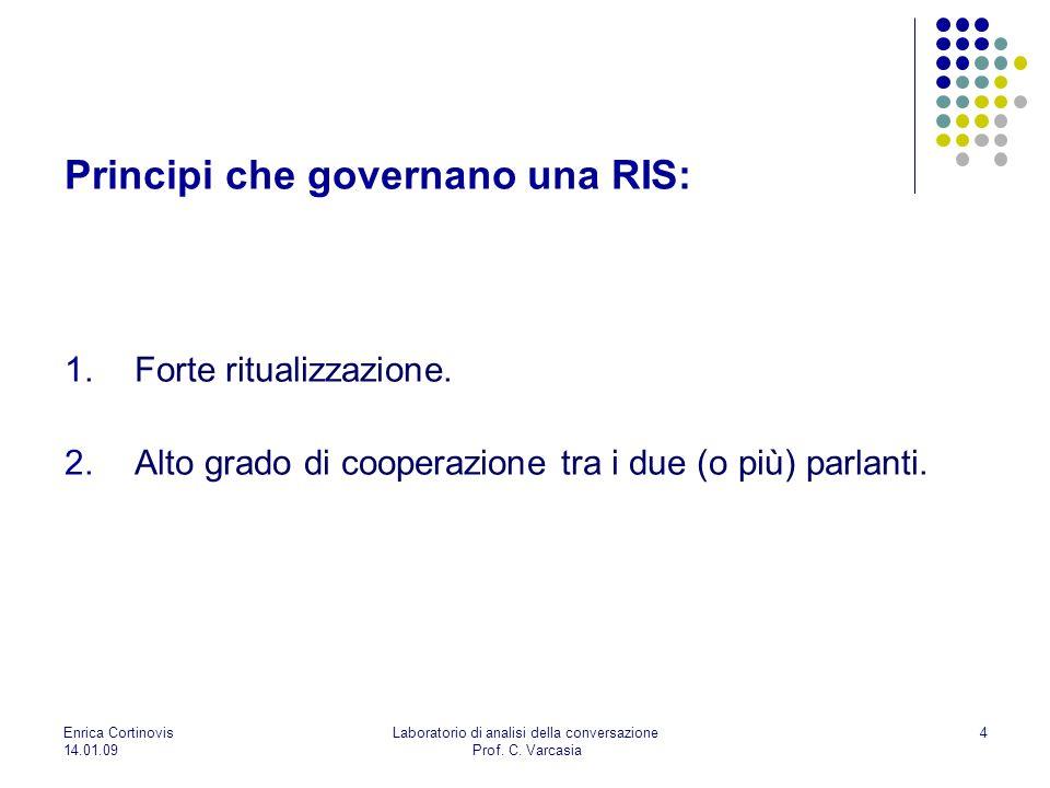 Principi che governano una RIS: