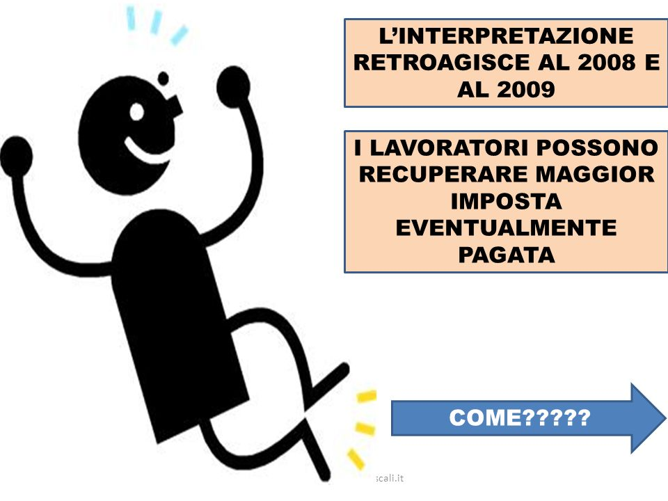 L'INTERPRETAZIONE RETROAGISCE AL 2008 E AL 2009