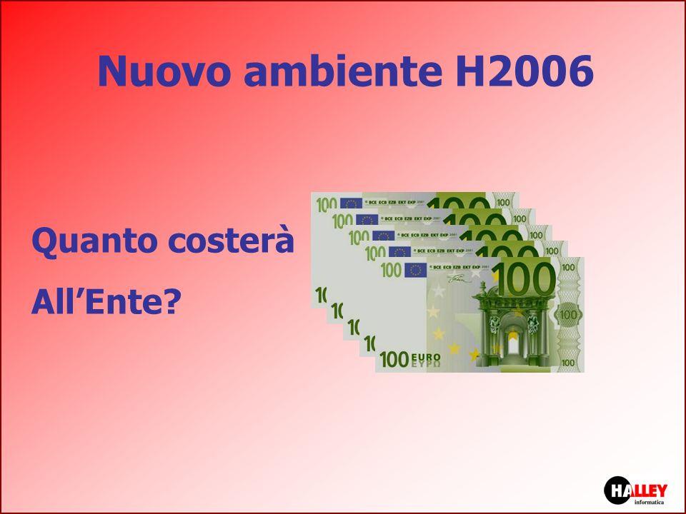 Nuovo ambiente H2006 Quanto costerà All'Ente nota