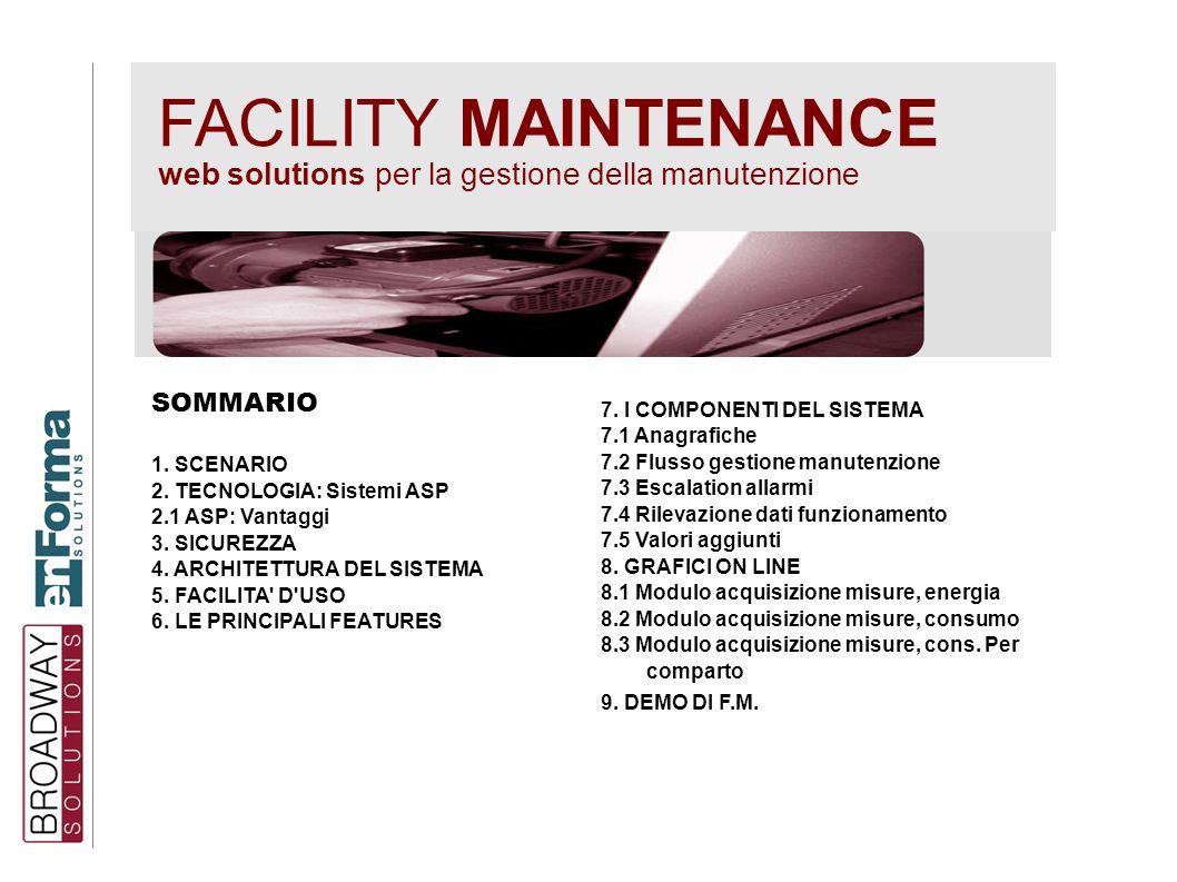 FACILITY MAINTENANCE web solutions per la gestione della manutenzione