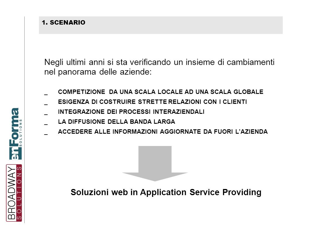 Soluzioni web in Application Service Providing