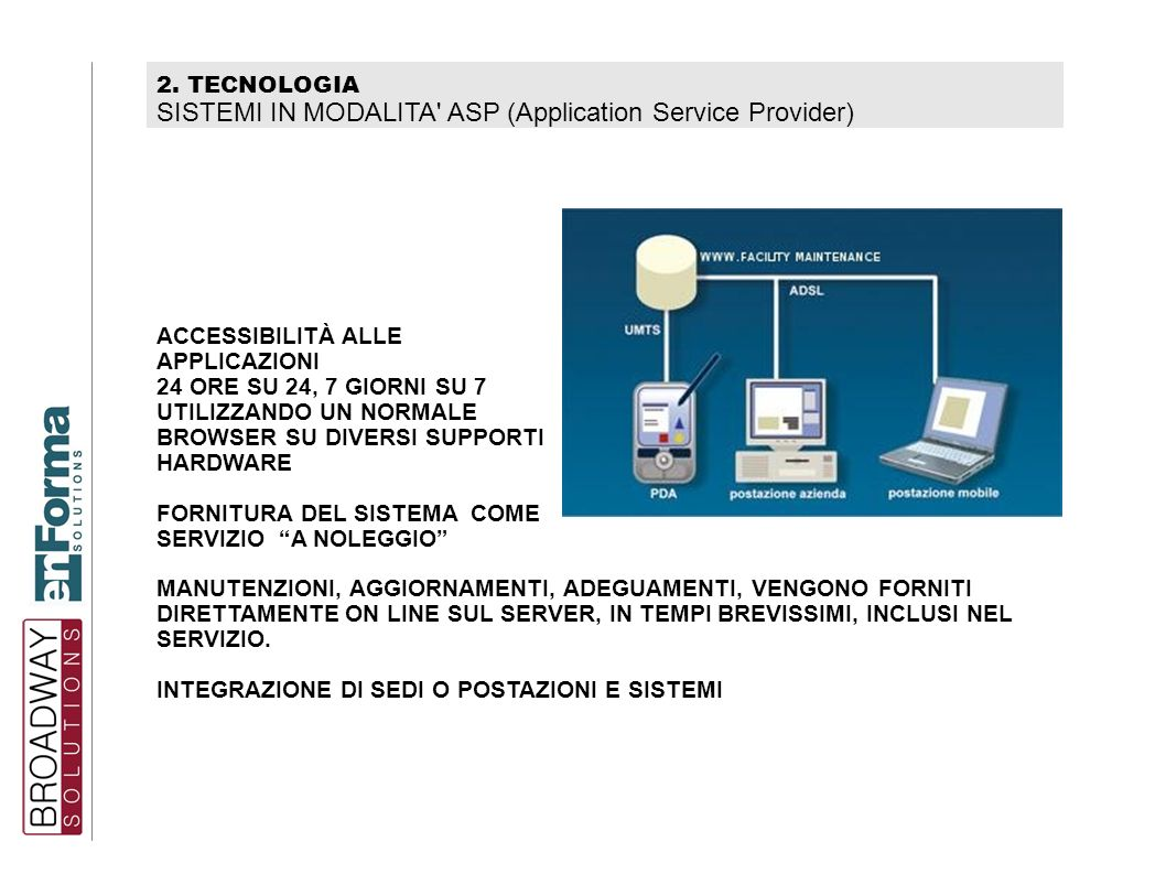 SISTEMI IN MODALITA ASP (Application Service Provider)‏