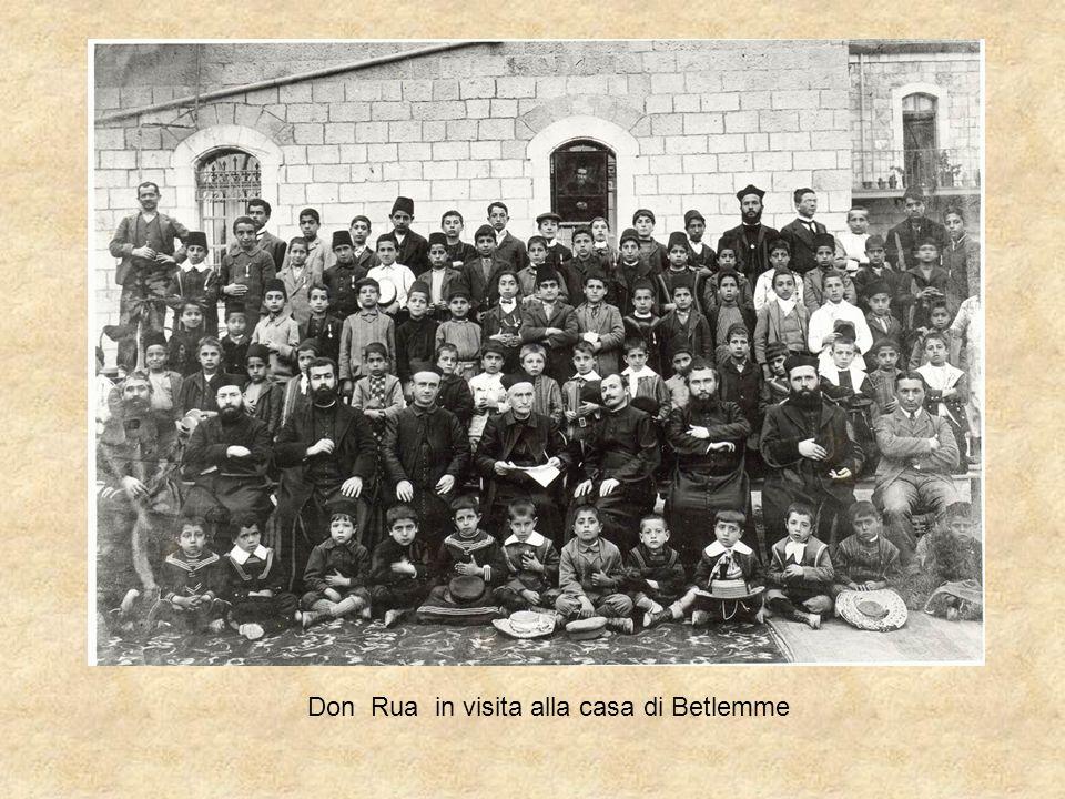 Don Rua in visita alla casa di Betlemme