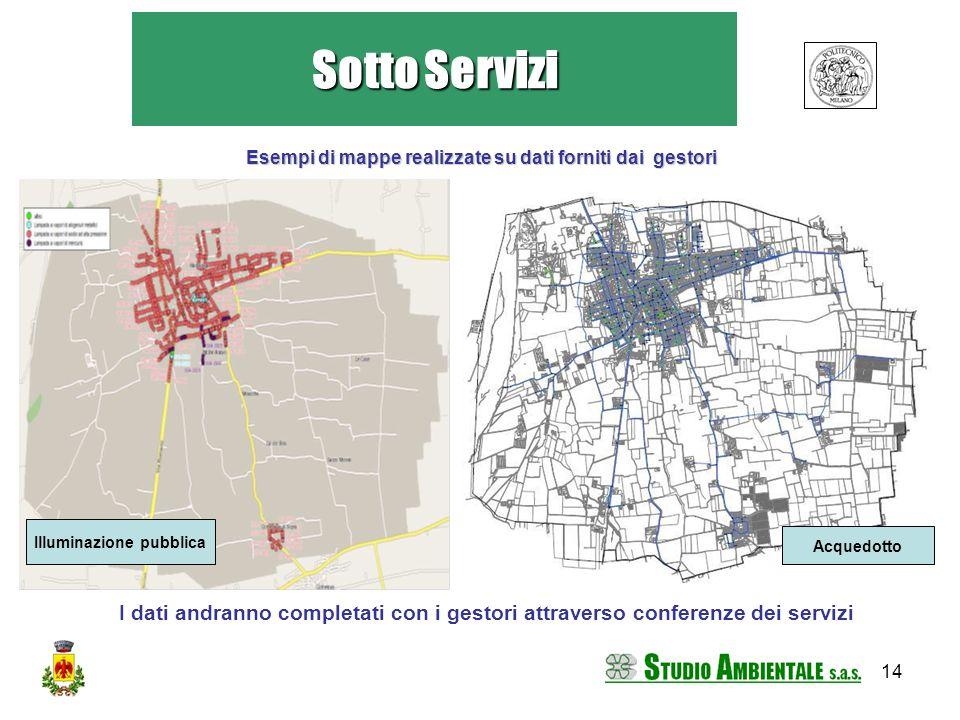 Esempi di mappe realizzate su dati forniti dai gestori