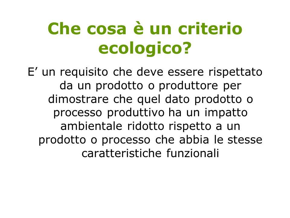 Che cosa è un criterio ecologico