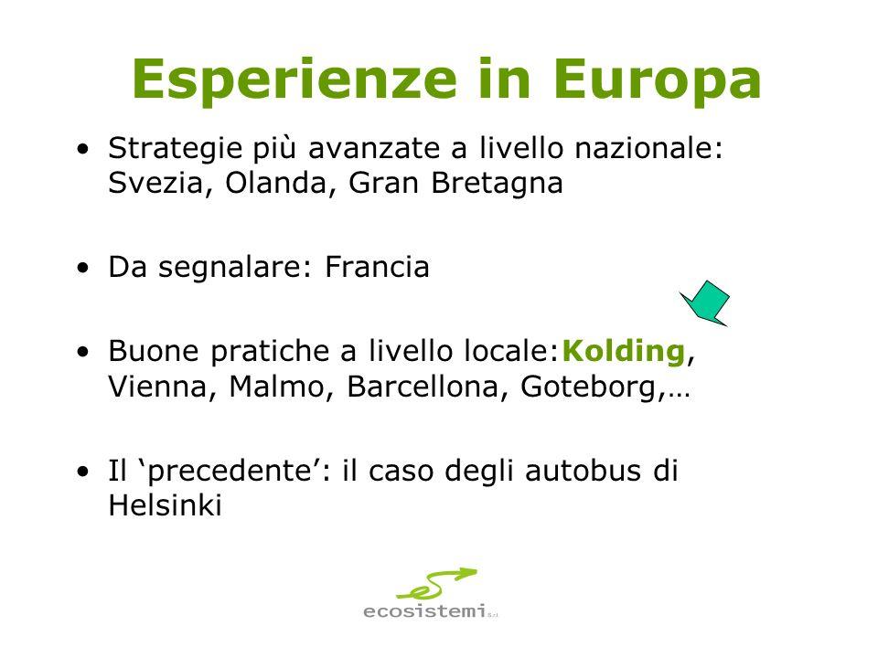 Esperienze in Europa Strategie più avanzate a livello nazionale: Svezia, Olanda, Gran Bretagna. Da segnalare: Francia.