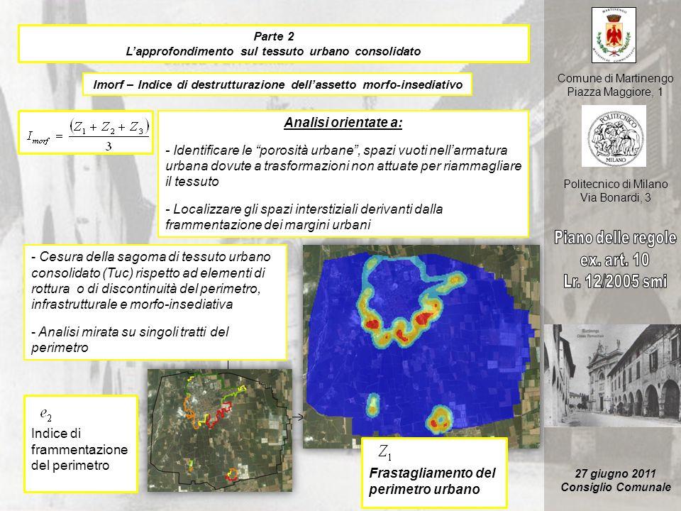 Analisi mirata su singoli tratti del perimetro