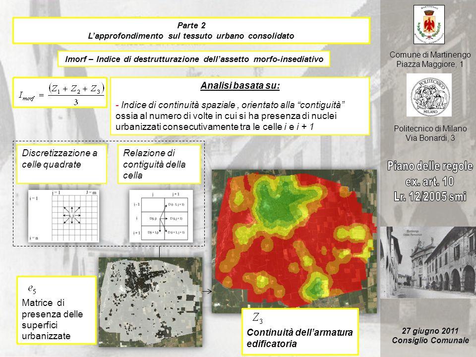 Discretizzazione a celle quadrate Relazione di contiguità della cella