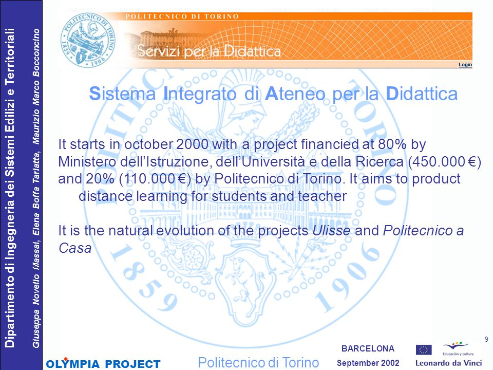 Sistema Integrato di Ateneo per la Didattica