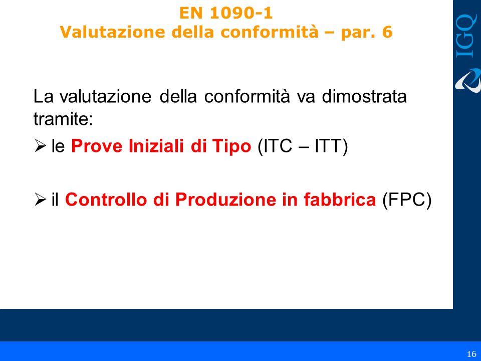 EN 1090-1 Valutazione della conformità – par. 6